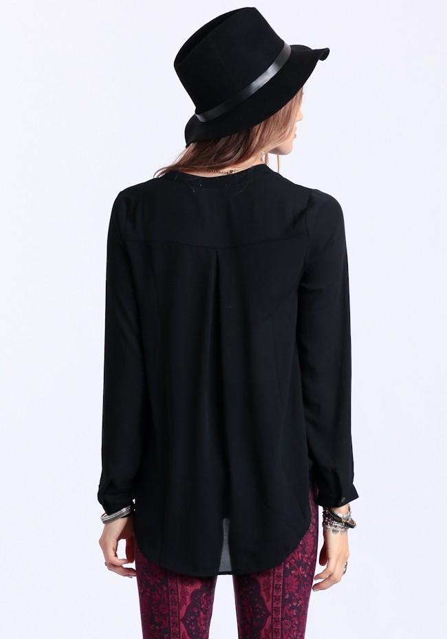 Blackout chiffon blouse