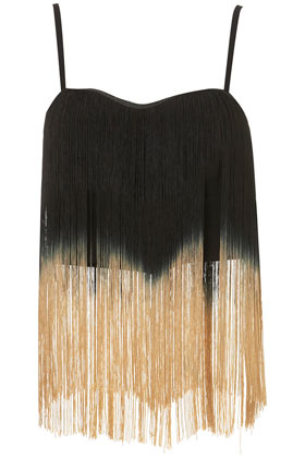 **Ombre Fringe Top by Rare - Tops  - Clothing  - Topshop