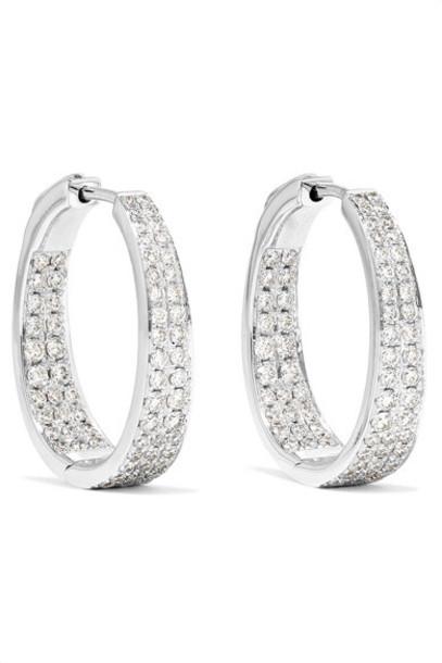 Anita Ko - Meryl 18-karat White Gold Diamond Hoop Earrings