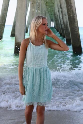 dress lace mint summer beach amazinglace amazinglace.com