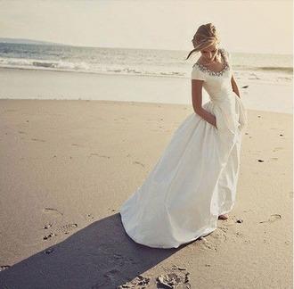 dress wedding white dress wedding dress bridal gown bridal simple wedding dresses my dream dress dream dress