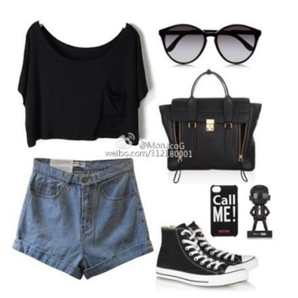 shorts sunglasses