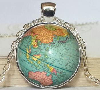 Globe jewelry vintage globe pendant globe art pendantteacher globe jewelry vintage globe pendant globe art pendantteacher gift world travel adventurer world map globe gumiabroncs Image collections