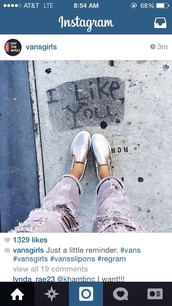 shoes,silver,vans,ripped,jeans,grey,glamour,vans?,trouserse