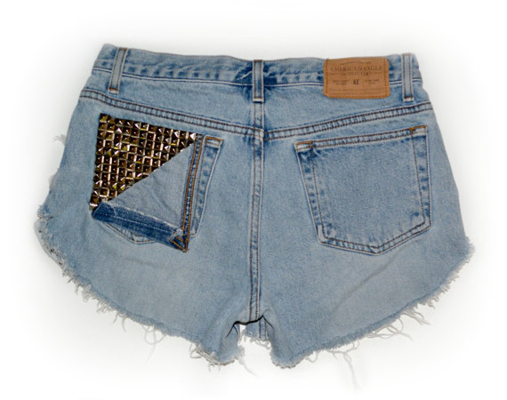 ONE OF A KIND Zoe High Waisted Shorts Fits 30/31 by Burdazi
