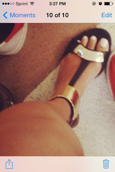 shoes flat sandals sandals black and gold shoes black shoes with ankle straps cute sandals