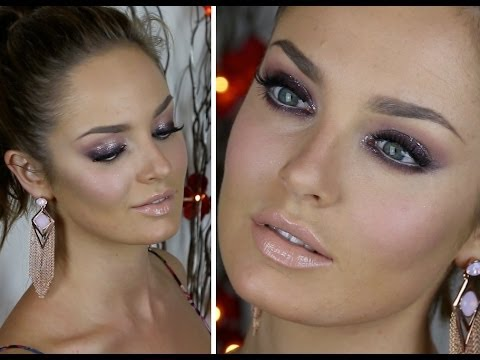 Glimmer on NYE! Smokey Purple Eyes (collab with AngelFoodStyle!) - YouTube
