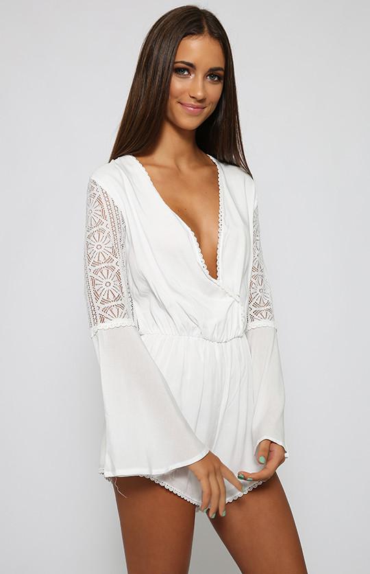 White Boho Blossom Romper – Dream Closet Couture