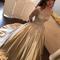 Applique long prom dress ball gowns evening dress champagne formal dress,hh073