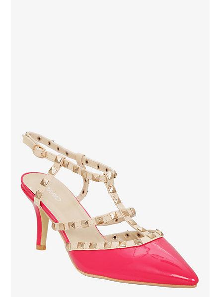 Studded Pink Heels | Tsaa Heel