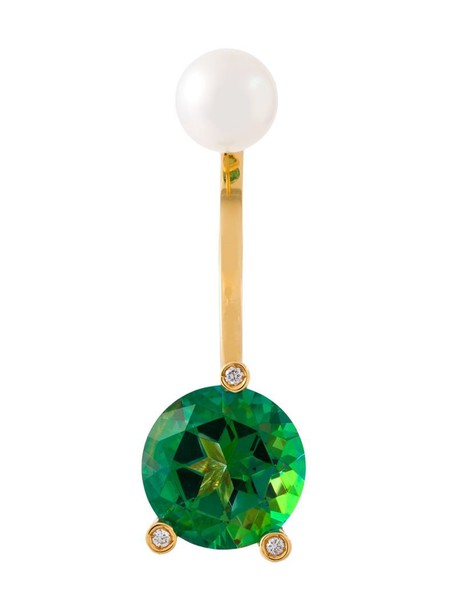 Delfina Delettrez triangle women pearl magic gold yellow grey metallic jewels