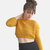 Crop Top Sweater in Mustard Yellow, Hand Knit Cotton Short Top, Womens Cropped Top / Hand knitted