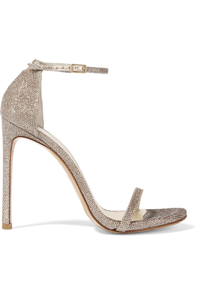 Stuart Weitzman - Nudist metallic mesh sandals