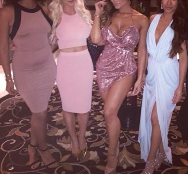 dress pinky sparkly dress pink short dress sequin dress