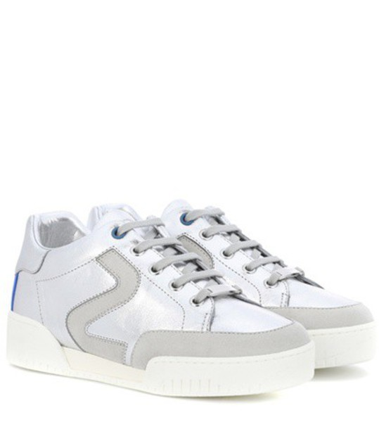 Stella McCartney sneakers leather silver shoes