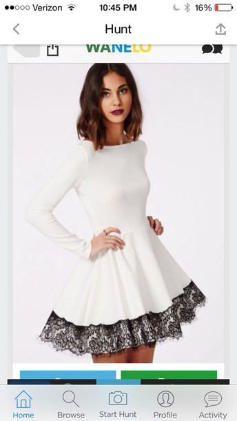 dress winter formal dress black and white dress white lace