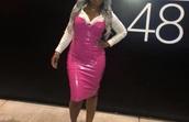 dress,vinyl,latex dress,pink dress,pink,sexy