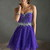 Purple Strapless Beaded Top Short Flirty Chiffon Dress [Short Flirty Chiffon Dress] - $140.00 : Cheap Prom Dresses 2014,Cheap Dresses For Prom 2014,Formal Prom Dresses On Sale