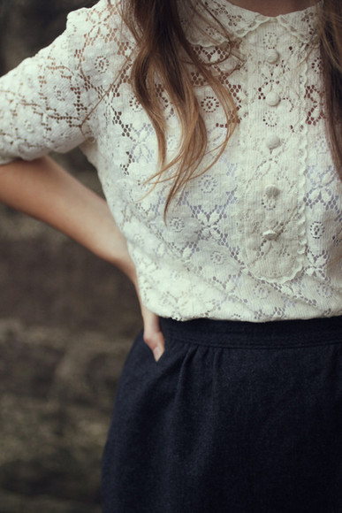 white shirt france blouse lace buttons peter pan collar vintage white navy skirt shirt white vintage shirt collar pattern dress black lace dress