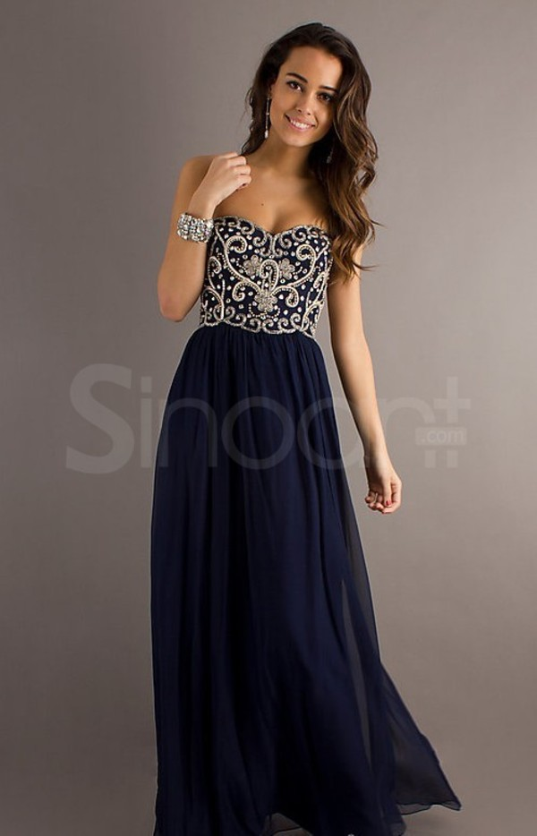 dress chiffon dress for prom and evening empire waistline and sweetheart neckline beadings