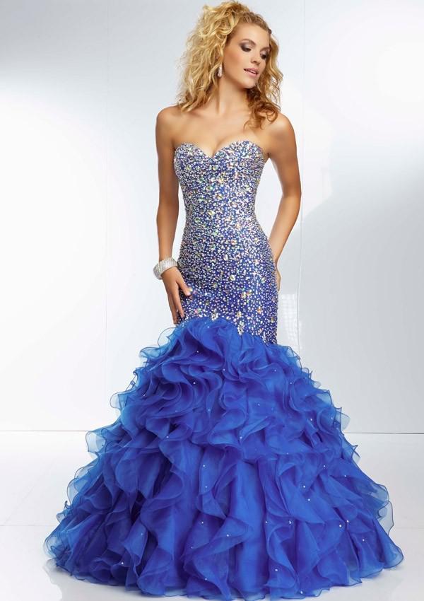 Coral Blue Prom Dresses