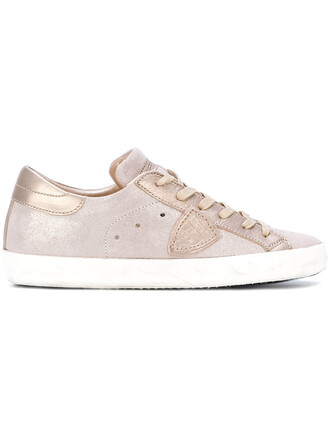paris women sneakers leather suede purple pink shoes