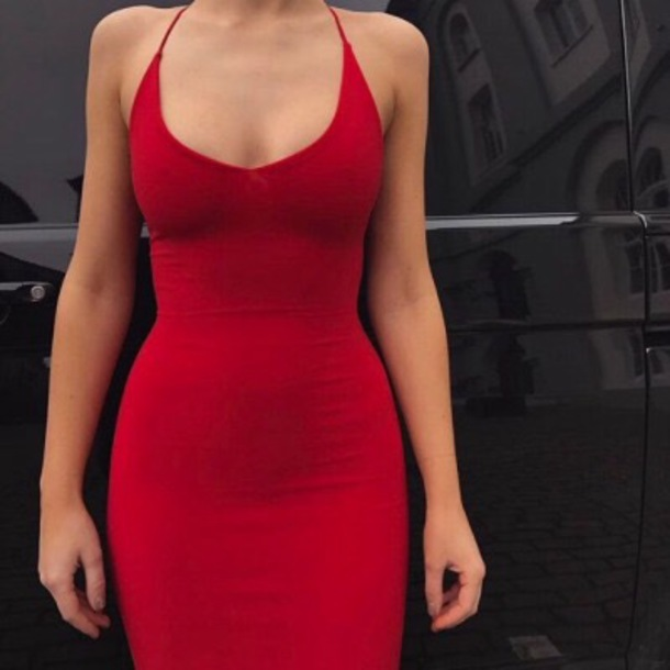 cc49bca02e7 dress tumblr red bodycon dress red dress bodycon midi dress midi party dress  sexy party dresses