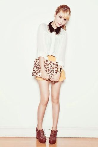 blouse cute womens fashion woman's clothing animal print style simple fashion shorts shoes