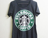 starbucks shirt on Etsy, a global handmade and vintage marketplace.