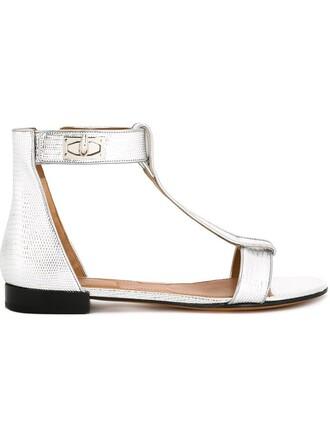 shark sandals flat sandals metallic shoes