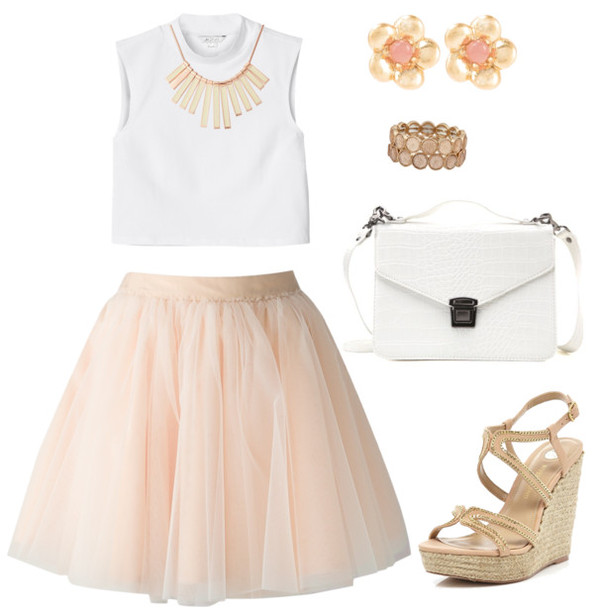 skirt pink outfit ootd heels fashion