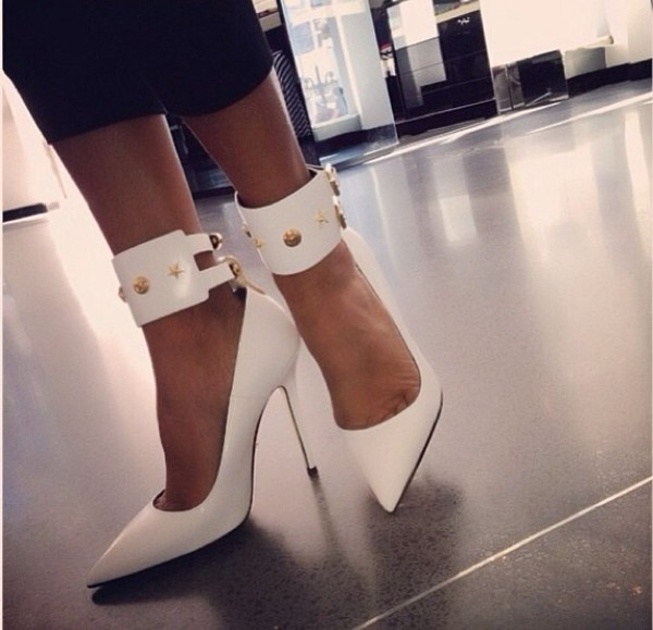 shoes white white heels heels