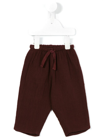 girl baby toddler red pants