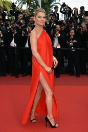 dress,red dress,red,red carpet dress,cannes,sandals,kate moss