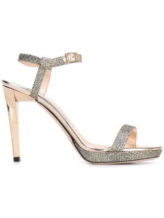 sandals metallic shoes