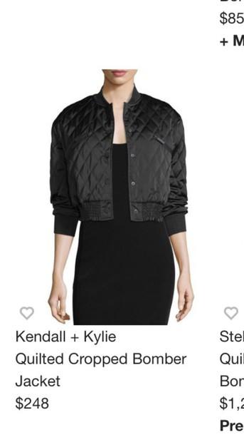 jacket black quilted bomber jacket