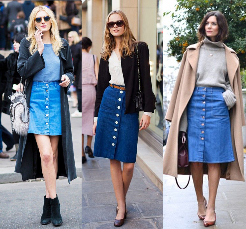 the buttoned a line skirt trend report style limelight