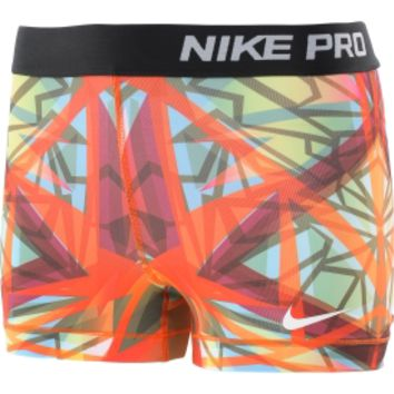 "Nike Women's Pro Core Kaleidoscope 3"" Printed Compression Shorts on Wanelo"