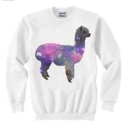 sweater,llama,white,sweatshirt,t-shirt