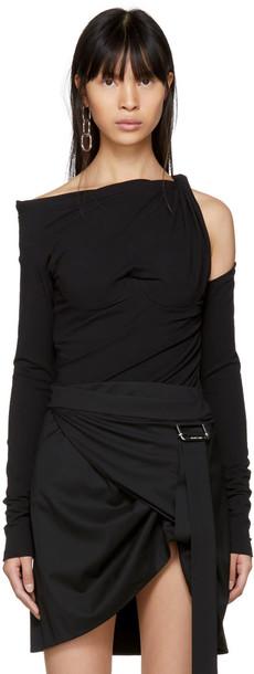 Alexander Wang t-shirt shirt t-shirt long black top