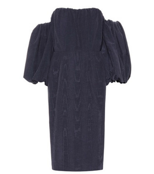 Stella McCartney Off-the-shoulder taffeta dress in blue
