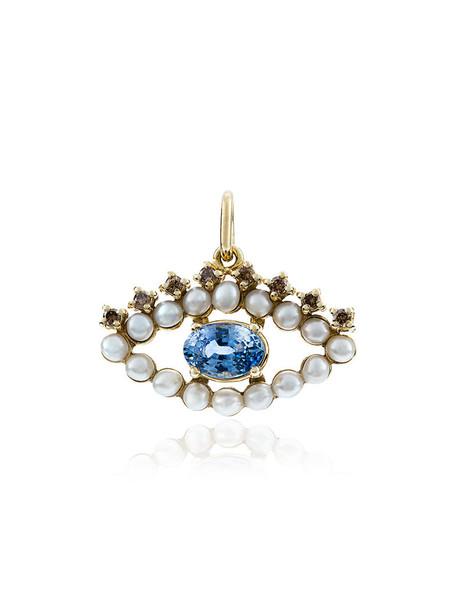 women pearl pendant gold grey metallic jewels