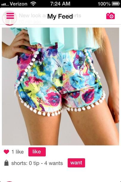 shorts blue blouse patterned shorts