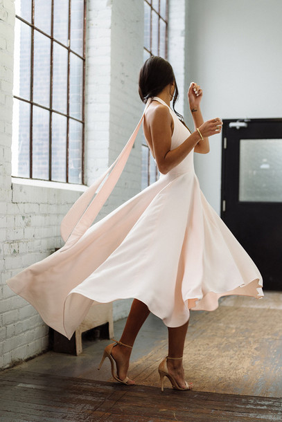 Long flowy dress white