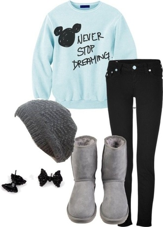 sweater disney pants hair accessory hat shirt disney sweater
