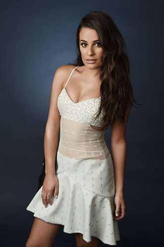 dress lea michele midi dress summer dress bustier dress