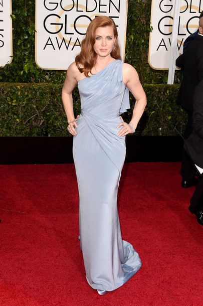 dress amy adams versace blue dress light blue gown Golden Globes 2015
