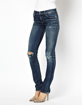 Citizens of Humanity | Citizens Of Humanity Ava Mi Rise Skinny Jeans With Ripped Knees at ASOS