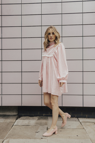 at fashion forte blogger dress jewels bag shoes mid heel pumps pumps mini dress