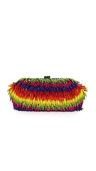 rainbow clutch bag